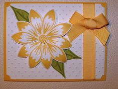 Stampin Up Build a Blossom. Mother's Day card.