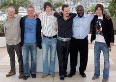 Hunger actors Liam Cunningham, Stuart Graham, Brian Milligan, Michael Fassbender, director Steve McQueen and Liam McMahon pose at the Cannes film festival