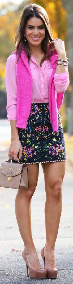 Pink mood #outfit #skirt