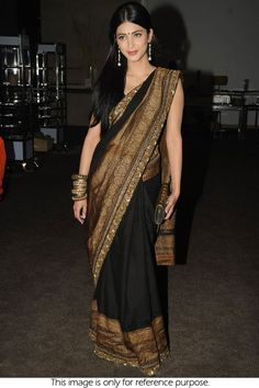 black latest saree designs - Google Search