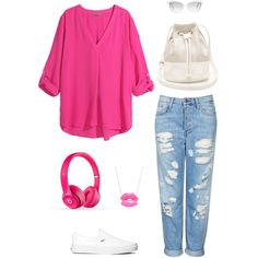 """Pink attack"" by martab on Polyvore"