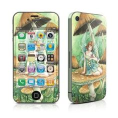 iPhone 4 Skin (High Gloss Finish) - Among The Mushrooms