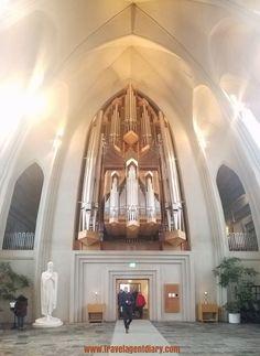 Inside Hallgrimskirkja church, facing the entrance #hallgrimskirkja #church #reykjavik #iceland #europe #travel