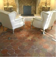 18th & 19th C. French reclaimed tomettes tiles - Francois and Co carries