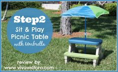 Looking for a great space for your child to eat or play?  Check out @Step2 Sit & Play Picnic Table with Umbrella!  Plus, I've got a #Giveaway!