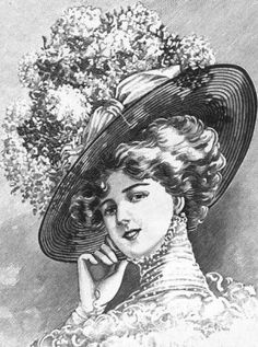 Summer Hat  1909-- Maybe a bit Too Much??