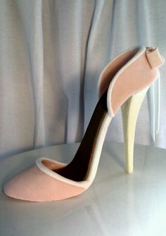 how to make a stiletto shoe out of fondant