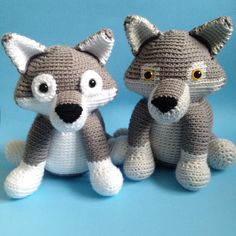 wolf toy crochet pattern: download at LoveCrochet