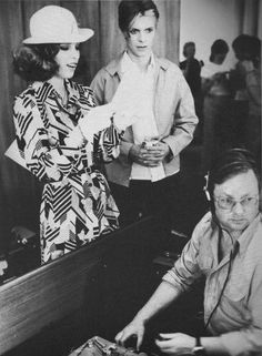 Candy Clark and David Bowie (backstage photo).