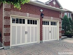 Visit our photo gallery to see a variety of garage door installation projects that we have completed over the years. Carriage House Garage Doors, House Doors, Residential Garage Doors, Garage Door Installation, Garage Door Design, The Doors, Exterior Paint Colors, Curb Appeal, Modern Farmhouse