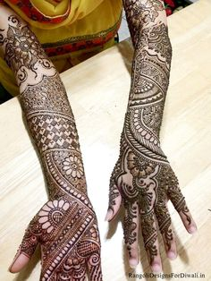 Latest 16 Beautiful Bridal Mehndi Designs for Full Hands in HD, Free Download Dulha Dulhan Mehndi Designs for Hands, Wedding Mehandi Designs for Bride Groom