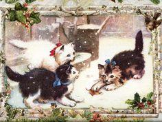 Victorian Cat Calendar -  January