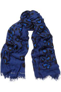 Marc by Marc Jacobs|Sasha leopard-print modal and cashmere-blend scarf|NET-A-PORTER.COM