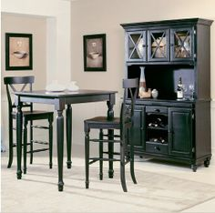 ashley black pub table 6 chairs i like the brown and black combo of colors kitchen pinterest kitchen table sets tables and kitchens