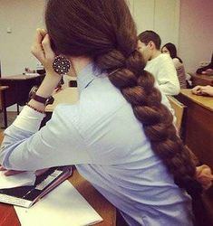 Find images and videos about style, hair and beauty on We Heart It - the app to get lost in what you love. Beautiful Braids, Beautiful Long Hair, Gorgeous Hair, Straight Hairstyles, Girl Hairstyles, Braided Hairstyles, Rapunzel Hair, Super Long Hair, Braids For Long Hair