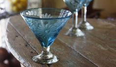 etched Mexican glassware - Melissa Guerra