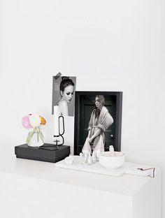 Dormitorio en blanco y negro sencillo y relajante   Decorar tu casa es facilisimo.com