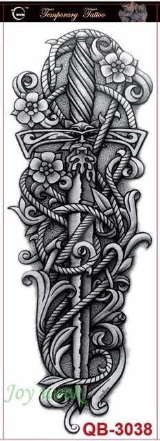 Tattoo - Waterproof Temporary Tattoo Full Arm