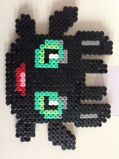 Toothless in beads