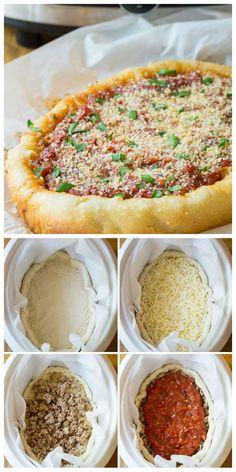 La pizza sans four façon Chicago aussi appelée la deep dish pizza