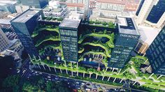 Oasia, a new 27-_ story hotel and office building, introduces some leafy green respite from the dense urban setting. http://www.architecturalrecord.com/articles/12039-continuing-education-biophilia