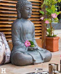 buddha deko buddha garten gartenleuchte buddha figur With französischer balkon mit buddha kopf garten