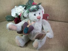 GANZ Cottage ANGEL HOPE BEAR Christmas Stuffed Plush Lorraine Chien Collectible #ganzcottage #Christmas