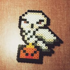 Hedwig Harry Potter perler beads by ladyz15