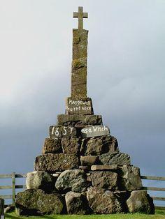 Last witch burning in 1657, Milnathort area, Perth, Scotland