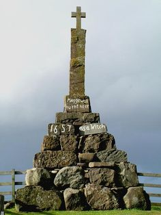 Last witch burning in 1657, Milnathort area, Perth, Scotland