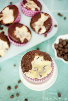 Cream cheese chocolate chip cupcakes Recipe!  Such an easy dessert and I promise one the whole family will love!