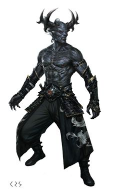 Demon of Lies Fantasy Demon, Fantasy Races, Fantasy Monster, Fantasy Warrior, Dark Fantasy, Ange Demon, Demon Art, Dnd Characters, Fantasy Characters