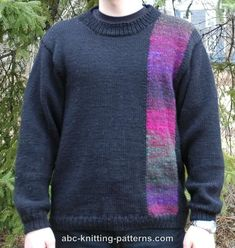 for leftover yarn? ABC Knitting Patterns - Elegant Noro Yarn Sweater for Men