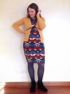 bybmg: What I Wore Wednesday 2.4 - LuLaRoe Julia Dress, mustard cardigan, black booties, maternity style