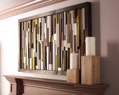 DIY Wall Art Project Made from Scrap Wood - The Home Depot. Nice look!