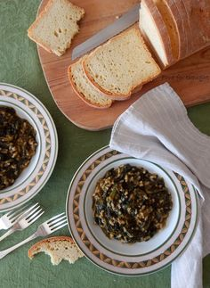 Food for thought: Σπανακόρυζο Food For Thought, Vegetarian, Bread, Ethnic Recipes, Breads, Bakeries