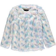Boohoo Katja Rainbow Pastel Faux Fur Coat (840 ARS) ❤ liked on Polyvore featuring outerwear, coats, jackets, pastel coat, imitation fur coats, faux fur coat, boohoo coats and fake fur coat