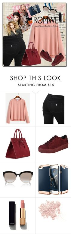 """""""Romwe street style"""" by lindaking67 ❤ liked on Polyvore featuring STELLA McCARTNEY, Mansur Gavriel, Lori's Shoes, Christian Dior, Chanel and Bare Escentuals"""
