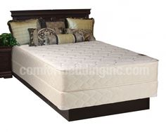 Comfort Rest White Tight Top Medium Plush Single Sided Full Mattresses