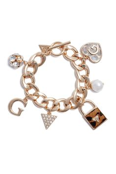 For the Beauty: Leopard Charm Bracelet   GUESS.com #GUESSHoliday