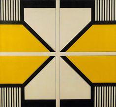 COLOR Geometric Art Bak Imre: Házak II. 1974