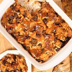 Dulce de Leche Mexican Chocolate Chunk Bread Pudding Recipe for a South of the Border Dessert Fiesta