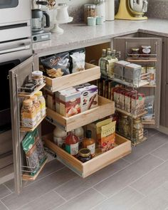 Small kitchen spaces can be tough to keep organized, but don't let a cramped space get you down! These storage ideas w ..