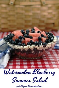 Our passion for those delicious fresh fruits and vegetables we associate with spring and summer is being fed right now thanks to Fresh From Florida! My family has just enjoyed this scrumptious Watermelon Blueberry Summer Salad ahead of the summer season! Summer Salads With Fruit, Summer Salad Recipes, Summer Desserts, Snack Recipes, Delicious Recipes, Fruit Salads, Delicious Dishes, Dessert Recipes, Snacks