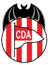 CD Acero of Spain crest. Sports Clubs, Crests, Red And White Stripes, Sports Logo, Football Team, Lululemon Logo, Soccer, Logos, Fictional Characters