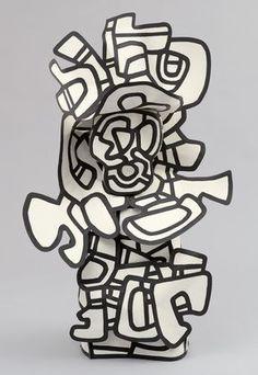 Jean Dubuffett sculpture plat/ 3 dimensions. #FredericClad