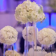 Winter white wedding flowers at The Hamilton Manor