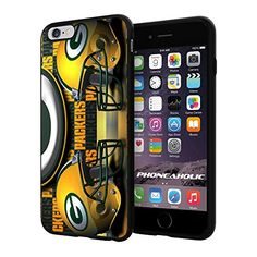 """NFL Green Bay Packers Helmet Logo, Cool iPhone 6 Plus (6+ , 5.5"""") Smartphone Case Cover Collector iphone TPU Rubber Case Black Phoneaholic http://www.amazon.com/dp/B00VTQ1S96/ref=cm_sw_r_pi_dp_APBmvb09SCN9X"""