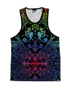 iHeartRaves Rainbow Paisley Men's All Over Print Tank