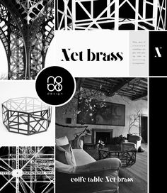 Inspiration with coffee table NET BRASS  by nobo design